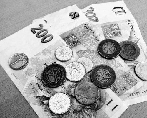 Bankovky a mince, čb