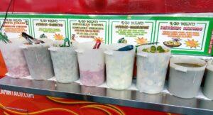 Mexický food truck, omáčky